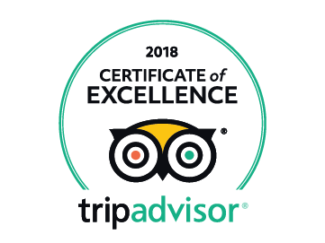 Trip Advisor 2018 Certificate of Excellence